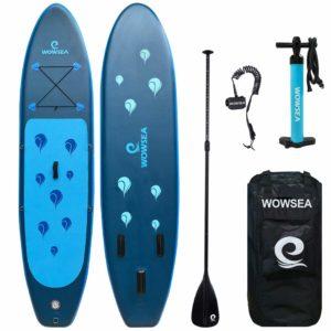 WOWSEA Surfboard aufblasbar Paddle Board Set